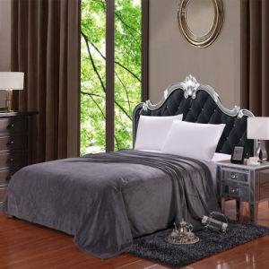 Home Textile Solid Color Soft Boa Blanket for Bedding pictures & photos