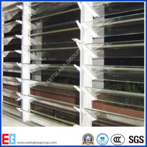 4mm 5mm Clear/Bronze Colored Louver Glass/Window Glass with Good Quality pictures & photos