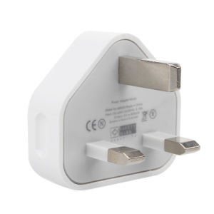 Single USB Wall Charger 3pin UK Plug Charger for iPhone 5/6s pictures & photos