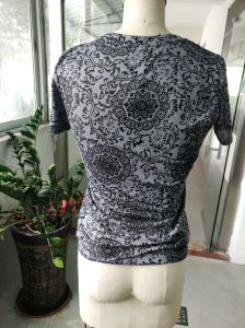 Summer Flower Printed Embroidered Attractive Women′s T-Shirt pictures & photos