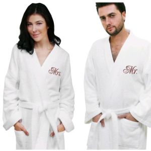 Soft Bathrobe Terry Embroidery SPA Bath Robe Made in China pictures & photos