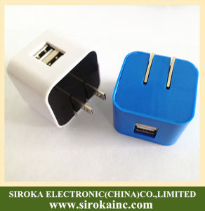 High Quality Universal Dual USB Travel Charger Adapter pictures & photos