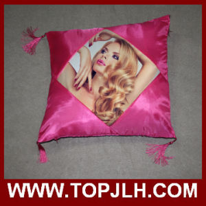 Sublimation Picture Transfer Satin Pillow Case with Fringes pictures & photos