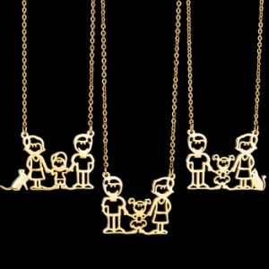 Popular Family Jewelry Fashion IP Gold Plated Cartoon Pendant Necklace pictures & photos
