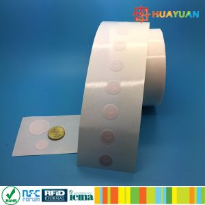 Diameter 13mm NTAG210 Micro Round Clear Paper Label pictures & photos