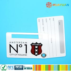 Printing PVC Smart RFID Hand Luggage Tag Card for Airport pictures & photos