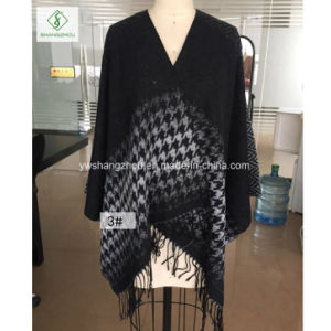 Newest Western Clothes Split Thick Warm Shawl Fashion Lady Scarf pictures & photos