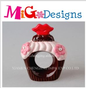 OEM Ceramic Napkin Ring Wonderful Cupcake Canister pictures & photos