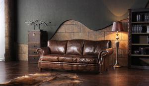 American Style Living Room Furniture Leather Sofa pictures & photos