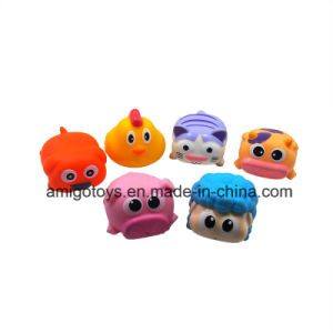 Six Cute Squeezed Animals Toys in PVC for Baby pictures & photos