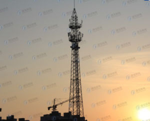 HDG Tubular Lattice Tower for Communication pictures & photos