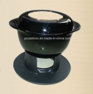 Ce Qualifed Cast Iron Fondue Set Price China Factory pictures & photos