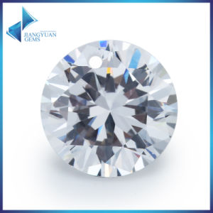 White Round Shape Cubic Zirconia Gemstone with Hole pictures & photos