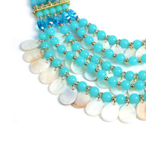 Fashion Multi Layer Crystal Shell Beads Statement Choker Necklace Jewelry pictures & photos