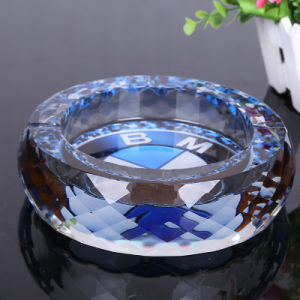Round Crystal Glass Ashtray for Office Decoration (ks24894) pictures & photos