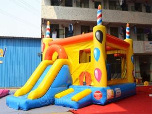 Birthday Theme Inflatable Bouncer Slide Combo (CHB526) pictures & photos