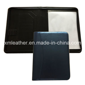 Stationery A4 Leather Junior Padfolio with Zipper Closed pictures & photos