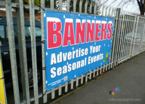 Hanging Fence PVC Vinyl Flex Banner Printing pictures & photos