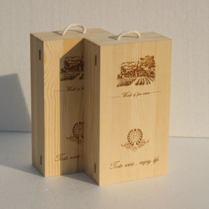Wholesale Wooden Wine Box Gift Box Wood Double-Vessel Box pictures & photos