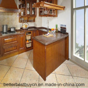 Fully Solid Wood Europe Style Kitchen Cabinet pictures & photos