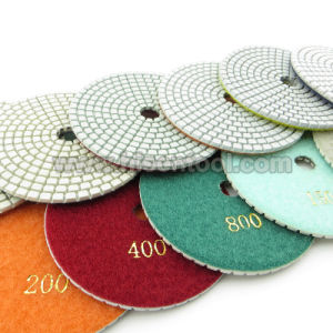 "5"" Diamond Flexible Polishing Pads Made of White Resin pictures & photos"