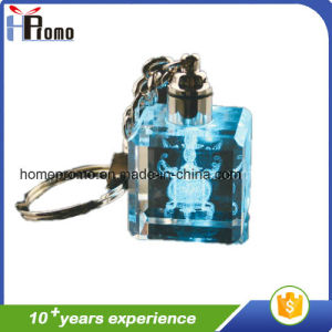 Laser Crystal Key Chain with LED Light pictures & photos