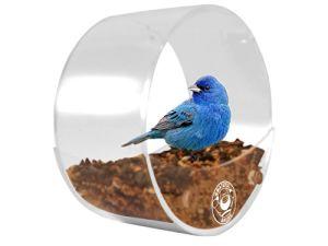 Round Acrylic Window Bird Feeder: Circular Bird Feeders, Watch Wild Birds up Close pictures & photos
