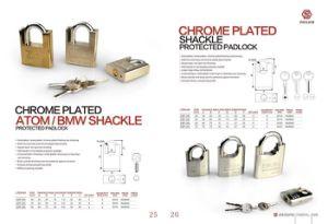 Arc Shackle Protectd Disc Brass Padlock, Brass Padlock (AL411) pictures & photos