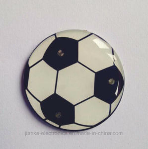 LED Football Shape Flashing Badge with Logo Printed (3161) pictures & photos