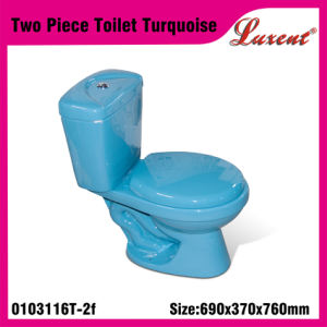 Stoneware Siphonic Gravity Flushing Round Shape Econormic 2PC Water Closet