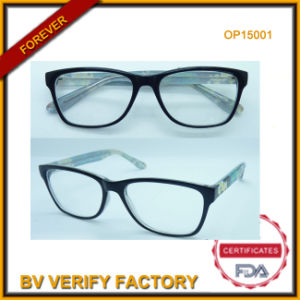 Big Frame Optical Glasses with Cp Material (OP15001) pictures & photos