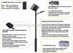 Solar Street Light with 40W LED Lamp pictures & photos