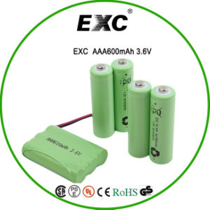 Ni-MH Battery 3.6V 600mAh 600mA AAA Rechargeable Ni-MH Battery pictures & photos