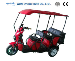 Adult Electric Leisure Tricycle Rickshaw for Passeners, Elederly Mobility Scooter Rickshaw