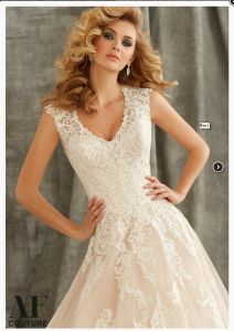 2017 Lace A-Line Prom Evening Cocktail Bridal Wedding Dresses WD1344 pictures & photos