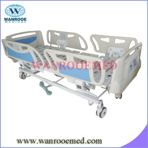 Electric Column Structure Hospital Bed with Weight Scale pictures & photos