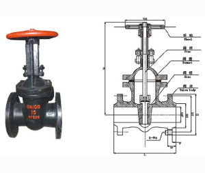 High Pressure Flanged End Stainless Steel Gate Valve pictures & photos
