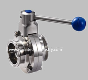 Stainless Steel Ss304 and Ss316L Clamp Sanitary Butterfly Valve