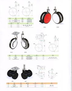 Furniture Fittings Plated Stem Wheel pictures & photos