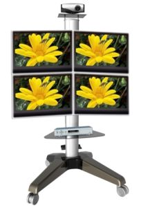 Four Screen Wheeled Standing Monitor Mount (PSF208) pictures & photos