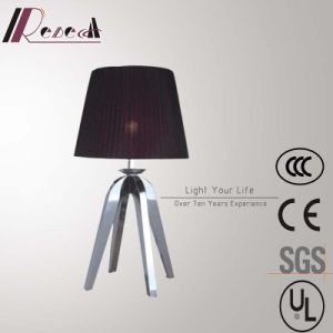 Hotel Decorative Red Table Lamp with Stainless Steel Legs pictures & photos