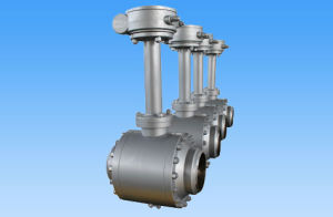 Ball Valve with Worm Gear for Natural Gas Pipe
