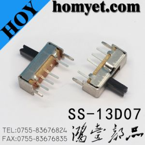 Wholesales 1p3t Three Position Slide Switch/Toggle Switch with DIP Type (SS-13D07) pictures & photos