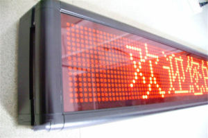 HD Indoor Single Color P4 LED Sign pictures & photos