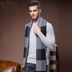 Men′s New Fashion Wool Nylon Acrylic Woven Winter Scarf (YKY4615) pictures & photos