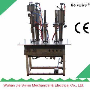 Combined 3 in 1 Table Semi-Automatic Aerosol Filling Machine