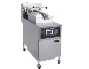 LCD Panel Gas Pressure Fryer Pfg-600L pictures & photos
