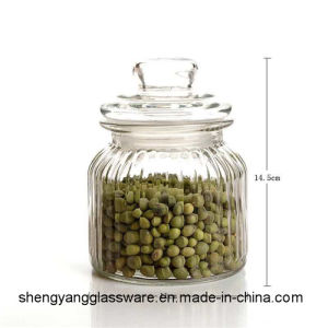 Free Sample Food Grade 500ml Glass Jar for Food Storage with Glass Lid pictures & photos