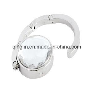 Creative Design Shiny Gemstone Decoration Folding Portable Purse Holder (G-050) pictures & photos