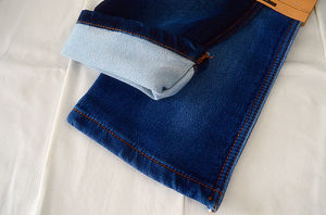 Polyester Spandex Fake Knit Denim Fabric Weight 11.5oz